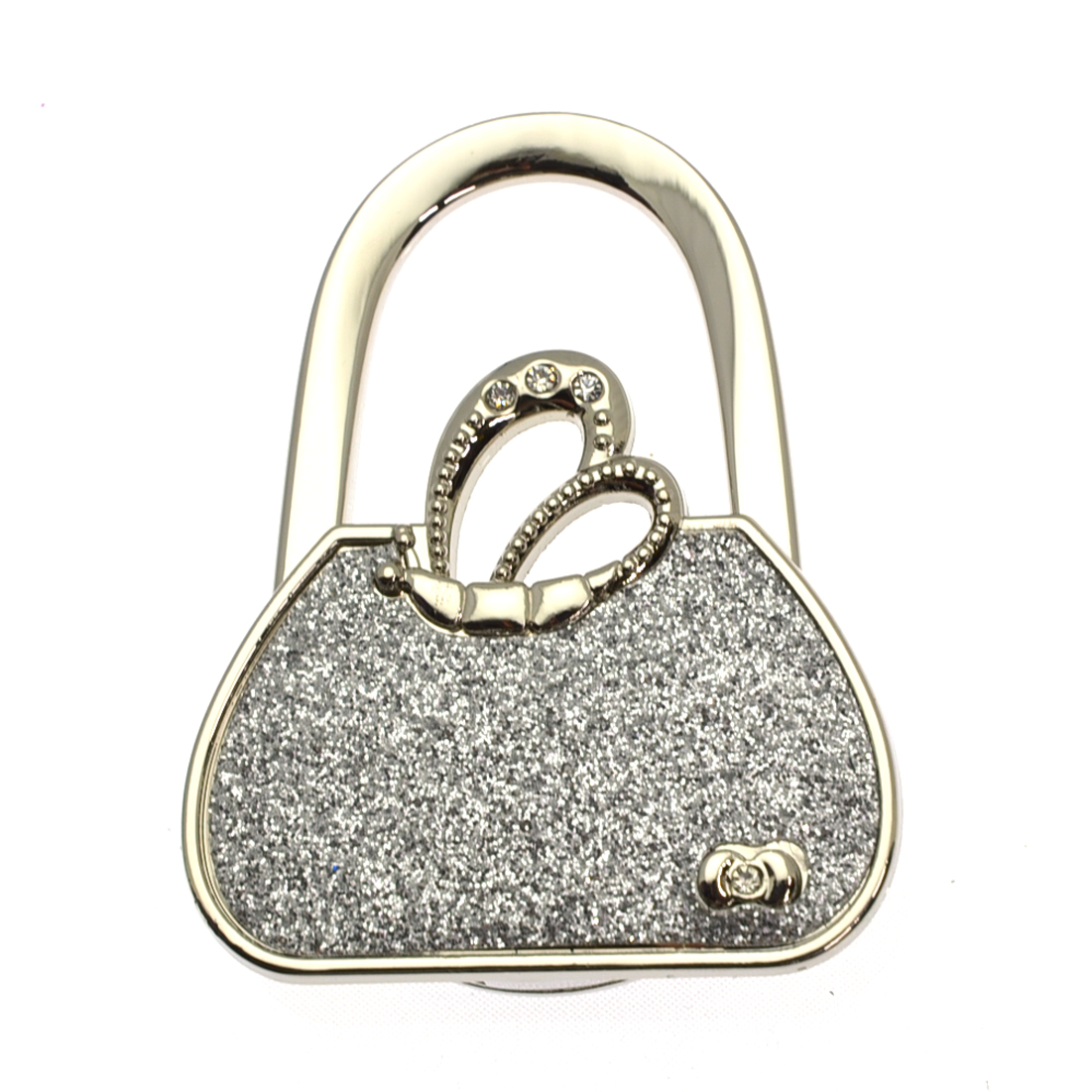 Foldable Rhinestone Studded Tote Bag Purse Hanger