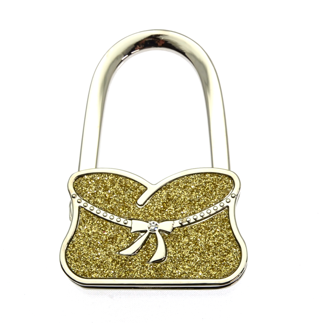 Foldable Glitter Purse Shaped Purse Hanger Hook