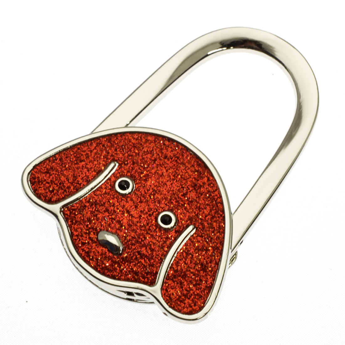 Metal Dog Shape Handbag Bag Purse Hanger Table Hook