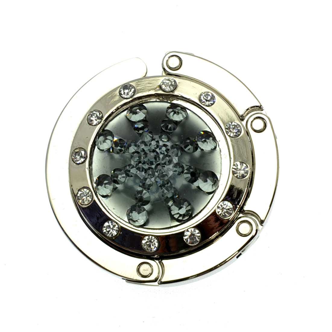 Foldable Rhinestone Studded Starburst Purse Hanger