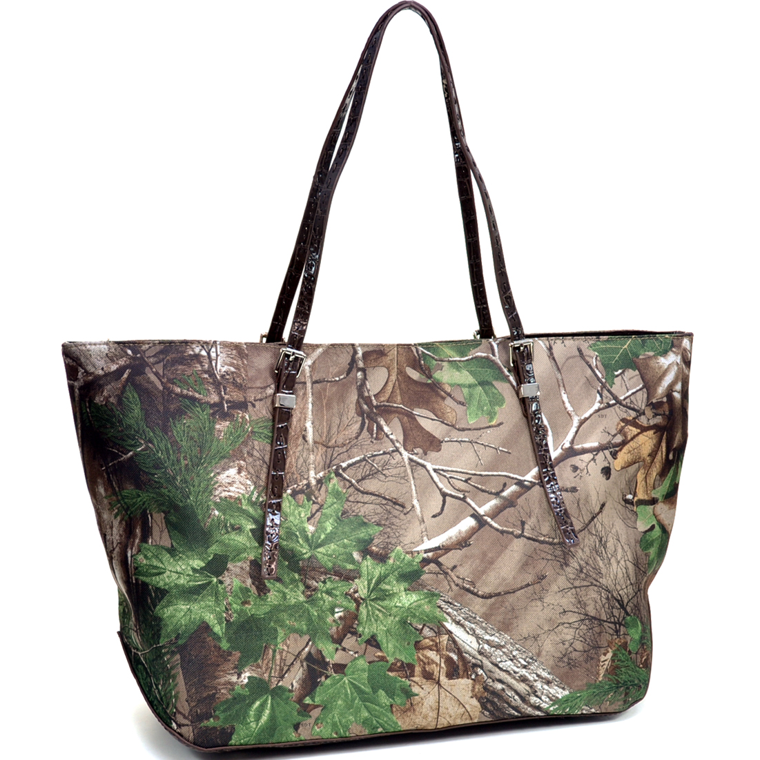 Dasein® Wide Carry-All XG Camouflage Tote Bag with Thin Shoulder Straps in Realtree Camo