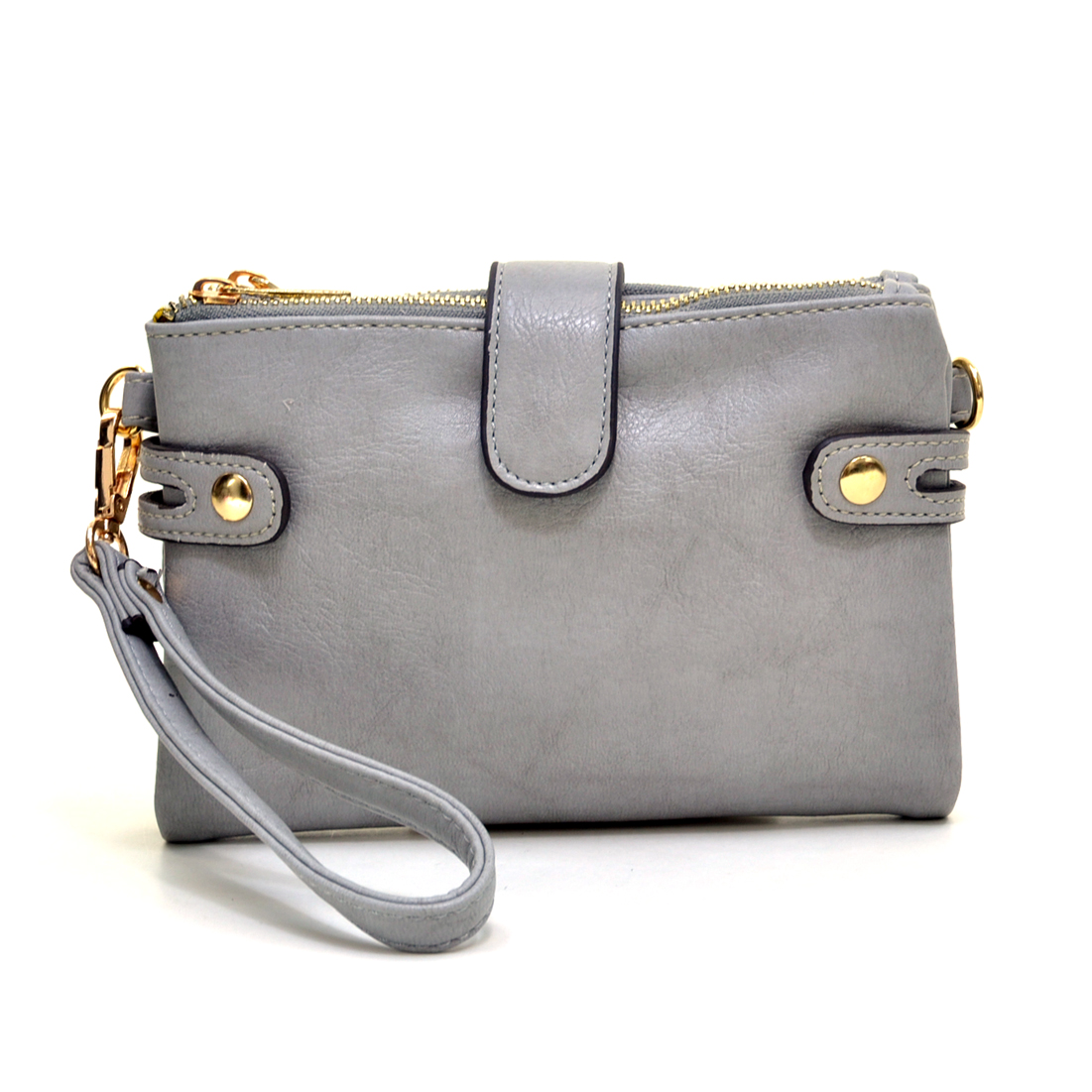 Cross Body Messenger Bag/Clutch with Removable Wrist Strap & Removable Adjustable Shoulder Strap
