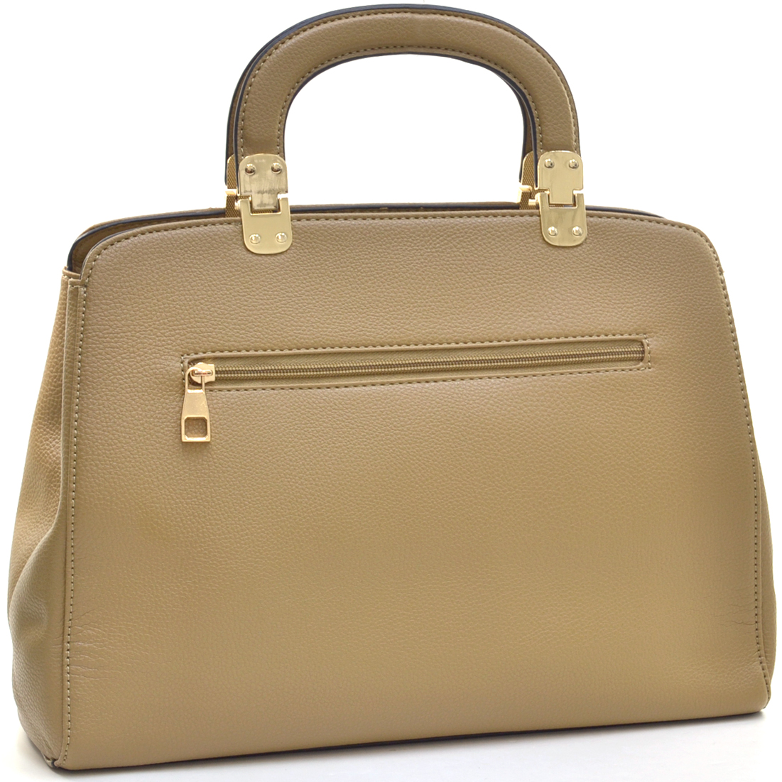 Dasein® Emblem Metal Hinge Handle Tapered Briefcase w/Removable Shoulder Strap