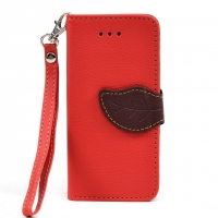 Dasein® Faux Leather Leaf Design Phone Case for iPhone 5