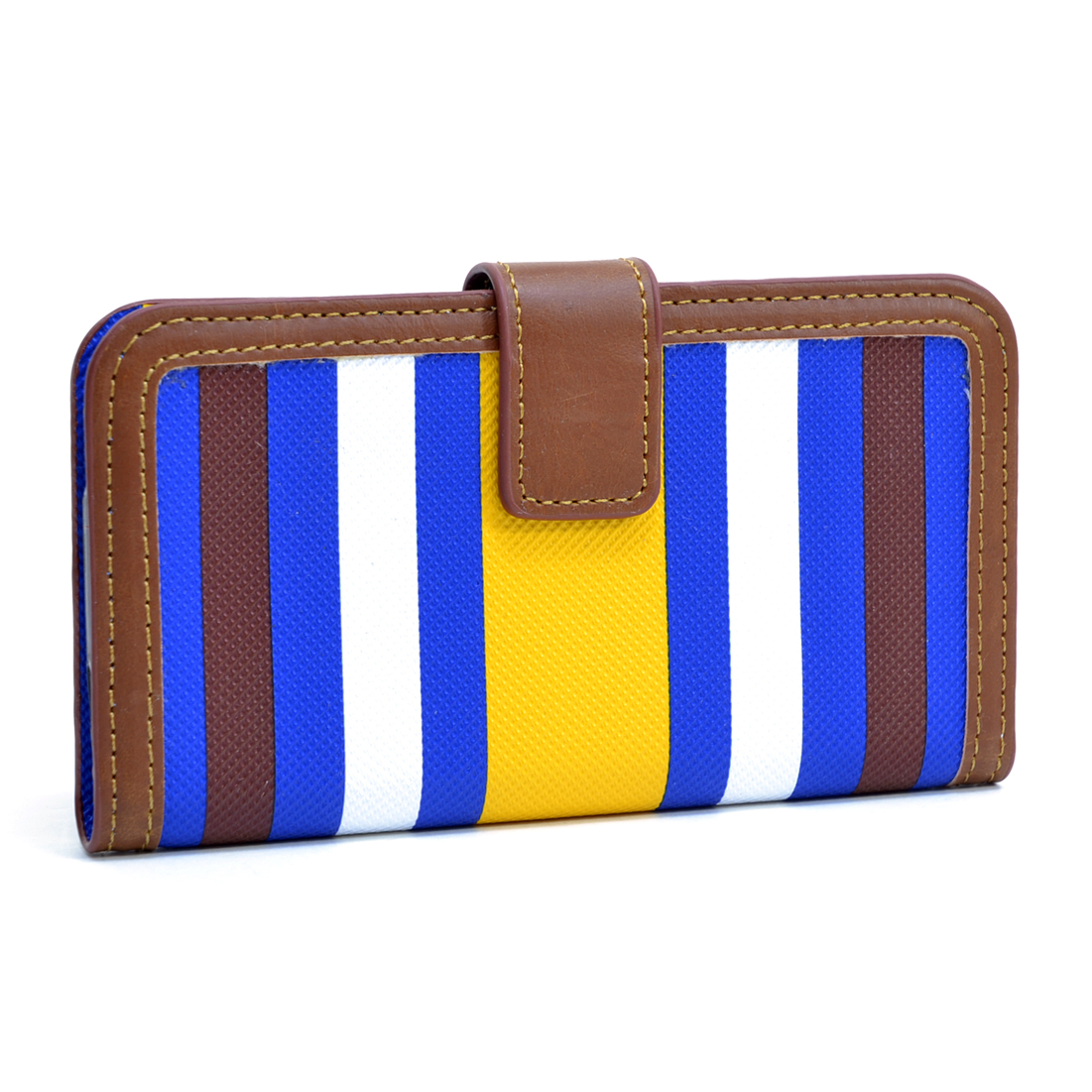Dasein® Striped Phone Case for Samsung S4-Yellow/Blue