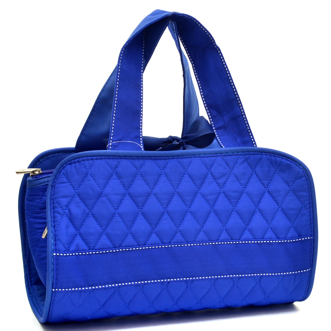 Rosen Blue™ Quilted Toiletry Travel Case with Removable Bags