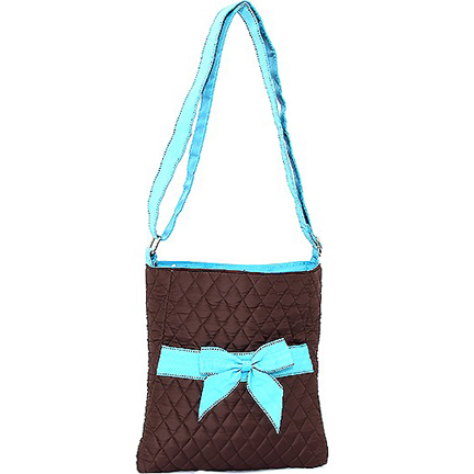 Rosen Blue™ Quilted Messenger Bag with Adjustable Shoulder Strap