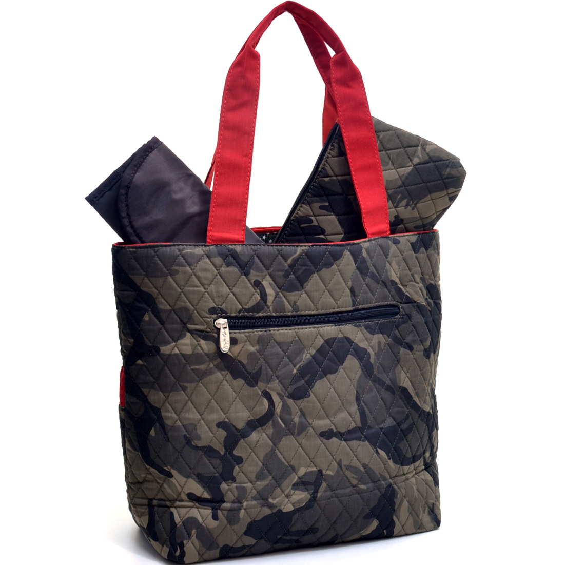 Rosen Blue® Camouflage Print Diaper Bag 3-Piece Set