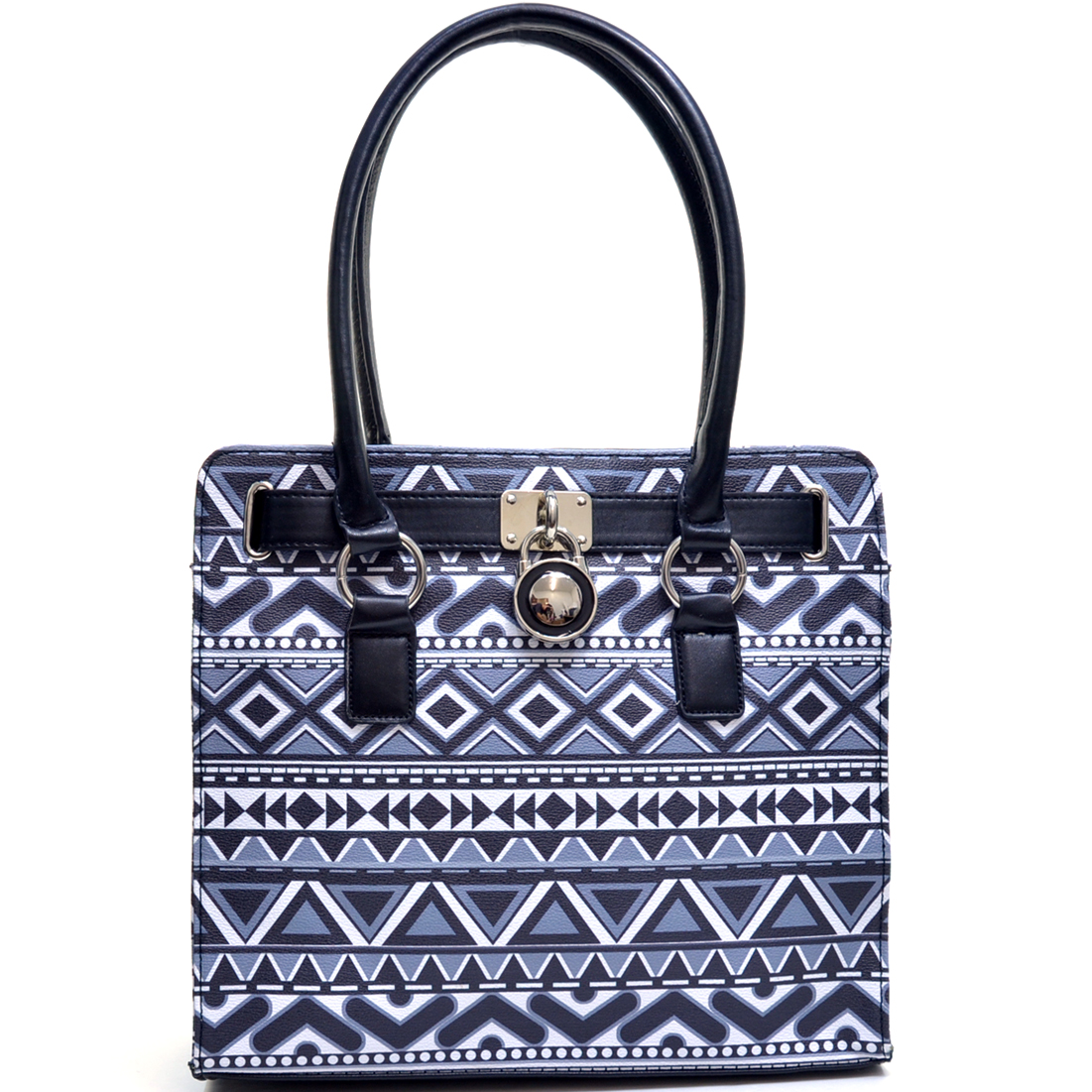 Aztec Print Tote Bag with Adjustable Top