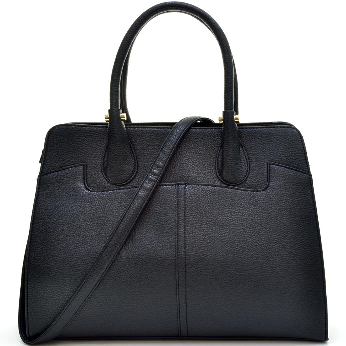 Dasein® Faux Buffalo Stud Accented Handle Briefcase w/Removable Shoulder Strap