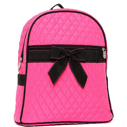 Rosen Blue™ Quilted Mini Backpack With Convertible Shoulder Straps & Removable Bow