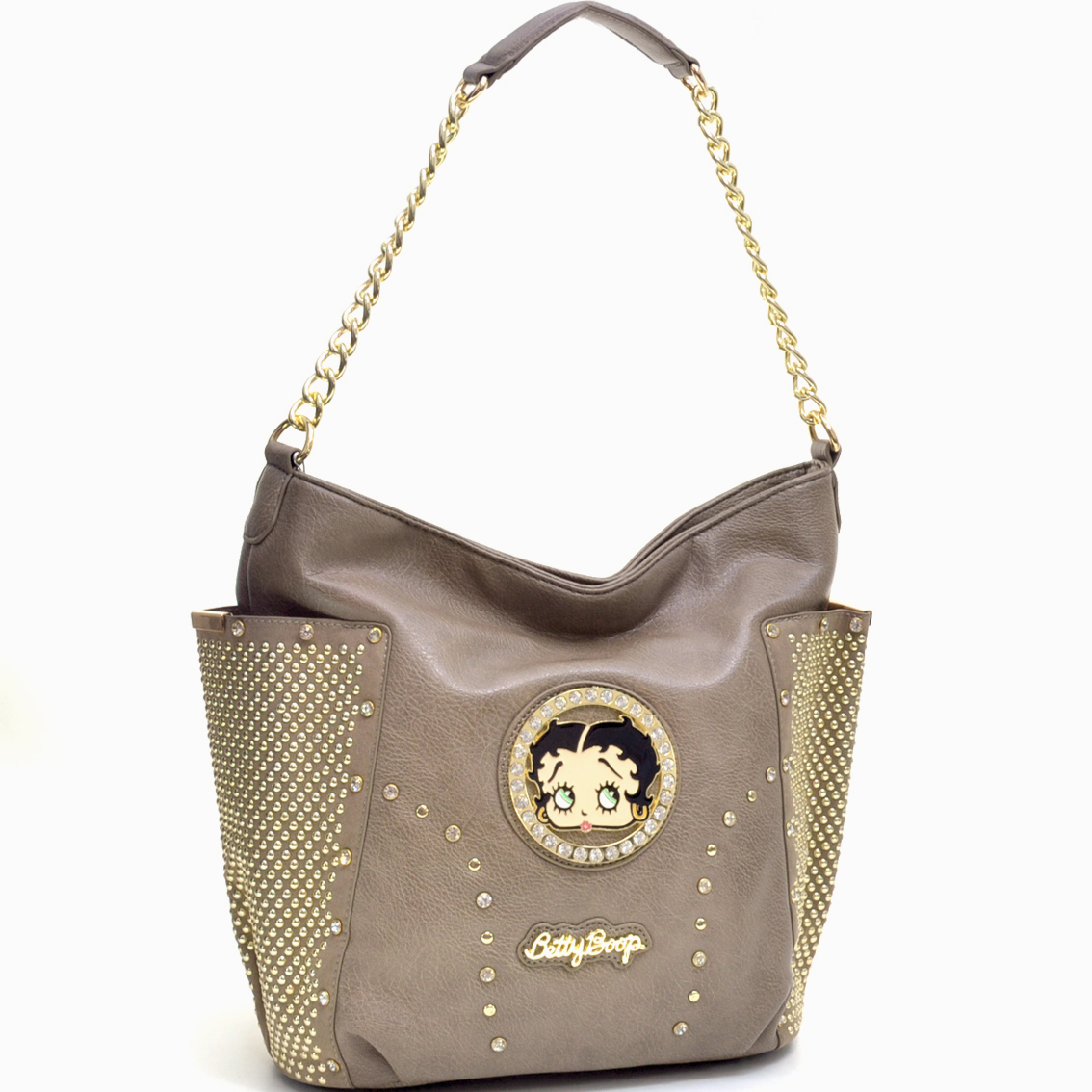 Rhinestone Studded Betty Boop® Tote w/Side Pouches