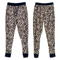 Leopard Print Jogger Pants with Elastic Drawstring Waist