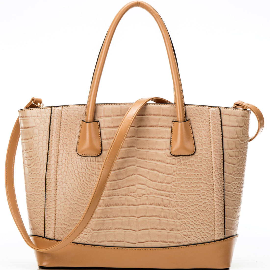 Dasein® Classic Croc Textured Tote w/Removable Shoulder Strap