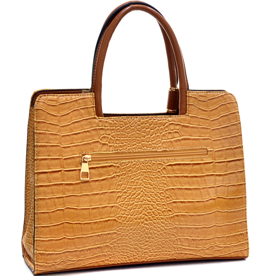 Dasein® Classic Croc Textured Shoulder Bag w/Removable Shoulder Strap