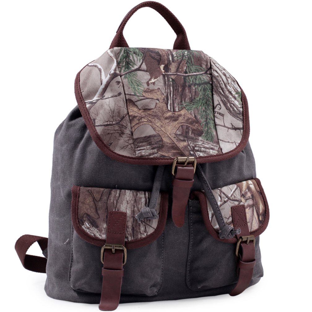 Realtree® Fold Over Canvas Camo Backpack