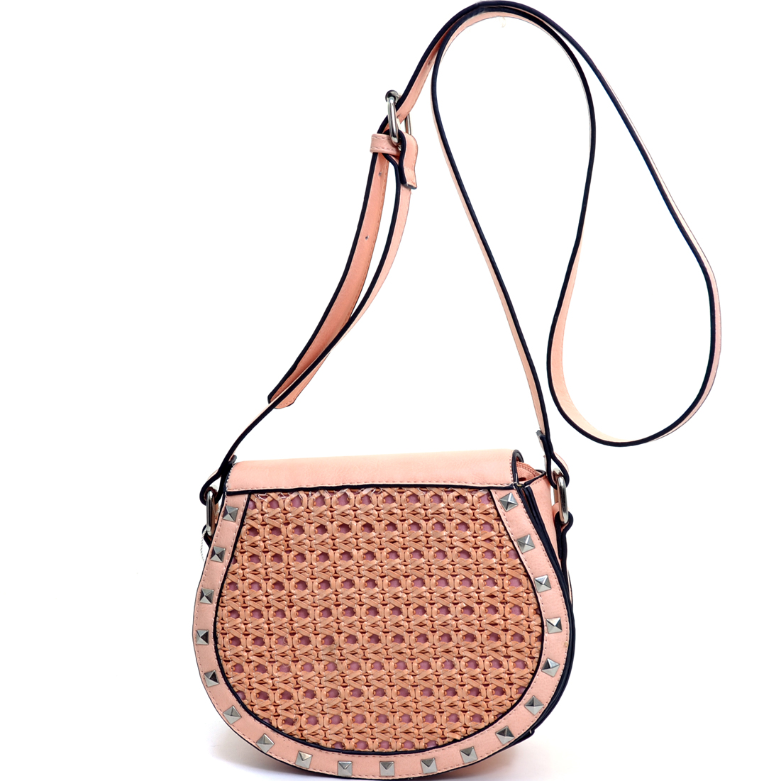 Pyramid Studded Messenger Bag