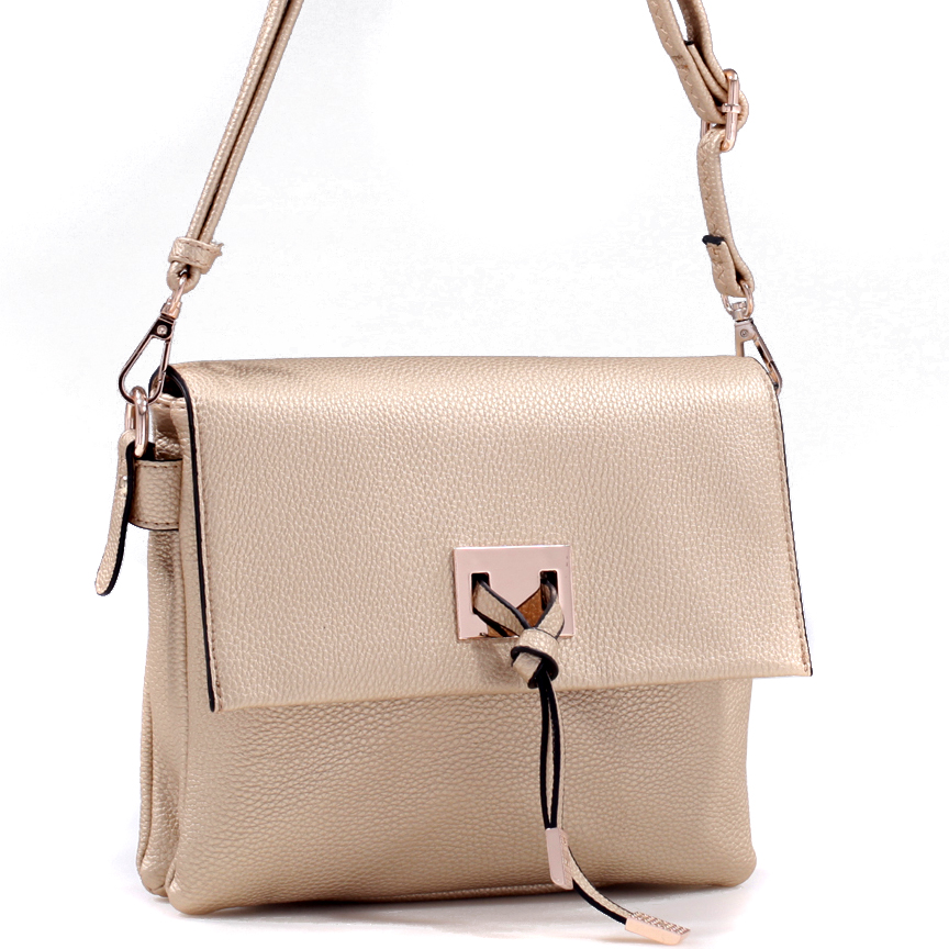 Small Knot Shoulder Bag with Gold-Tone Hardware