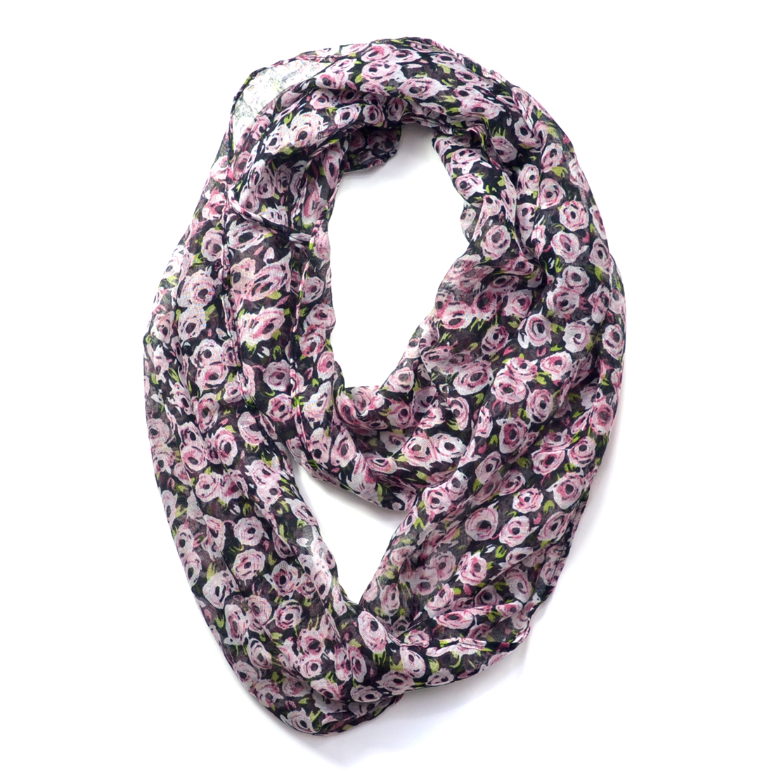 Floral Print Infinity Scarf