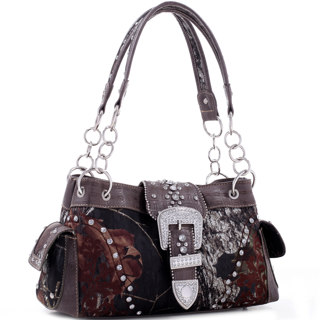 Mossy Oak® Rhinestone Buckle Shoulder Bag
