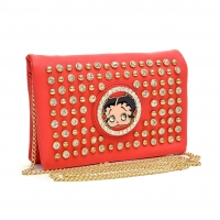 Studded Betty Boop® Layered Cross-Body and Clutch