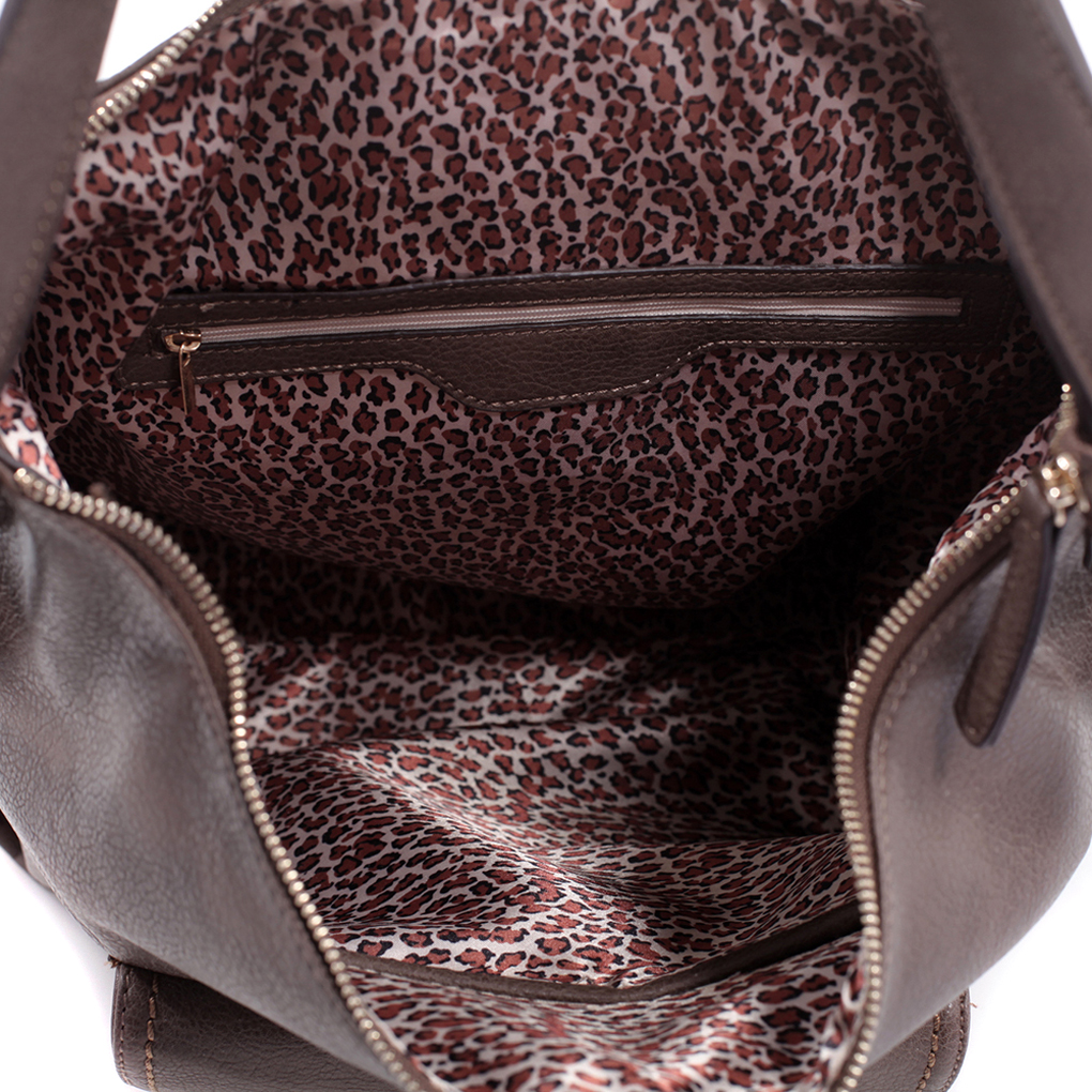 Studded Concealed Carry Faux Leather Hobo Backpack