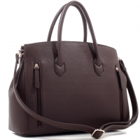 Lock Concealed Carry Buffalo Faux Leather Satchel