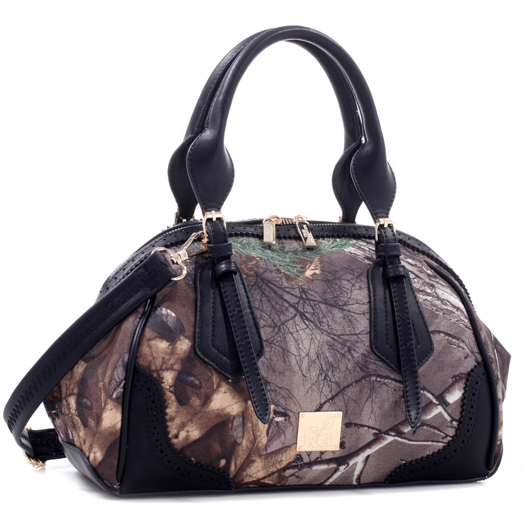 Realtree® Girl Round Gold-Tone Satchel with Dual Handles