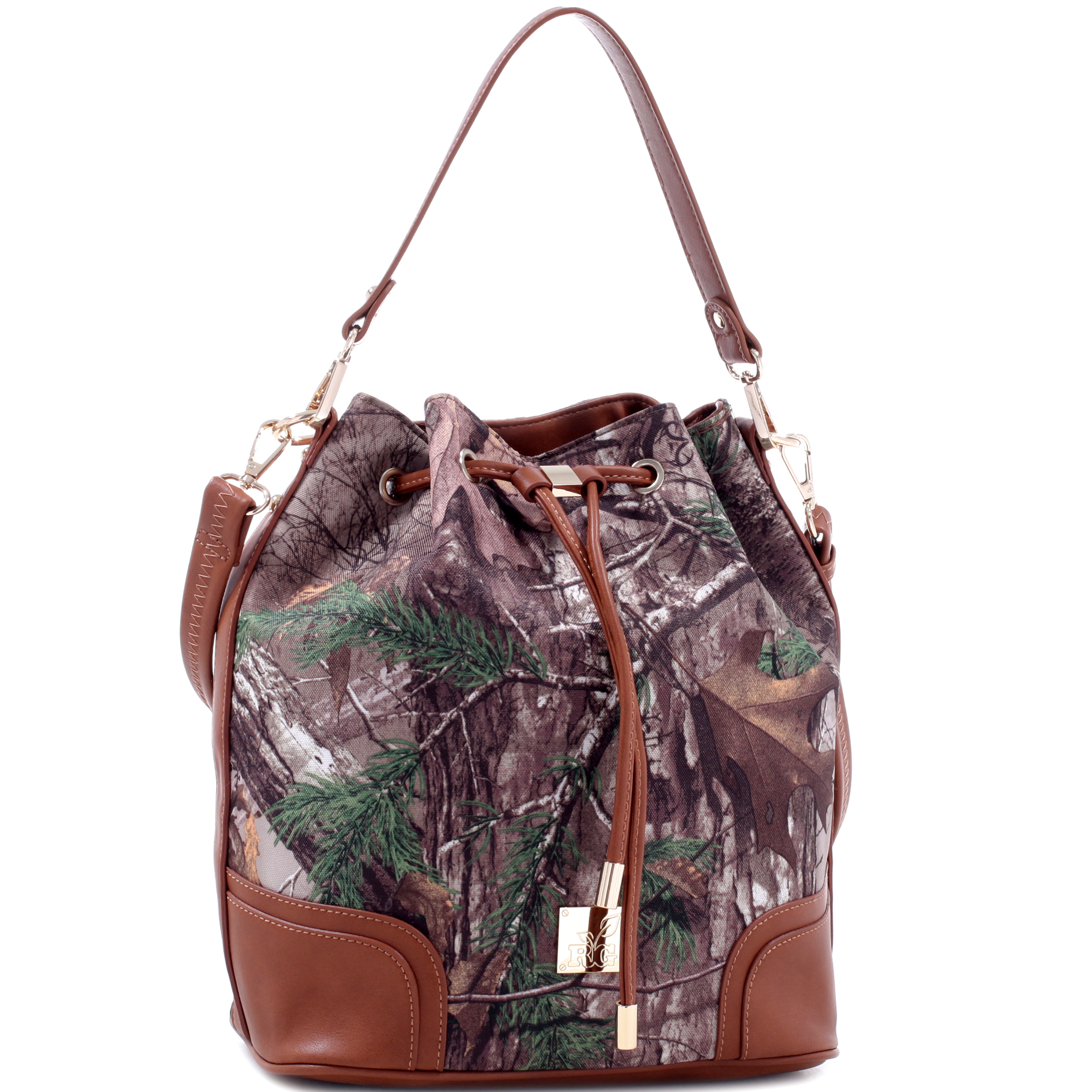 Realtree® Girl Camouflage Bucket Bag with Removable Straps