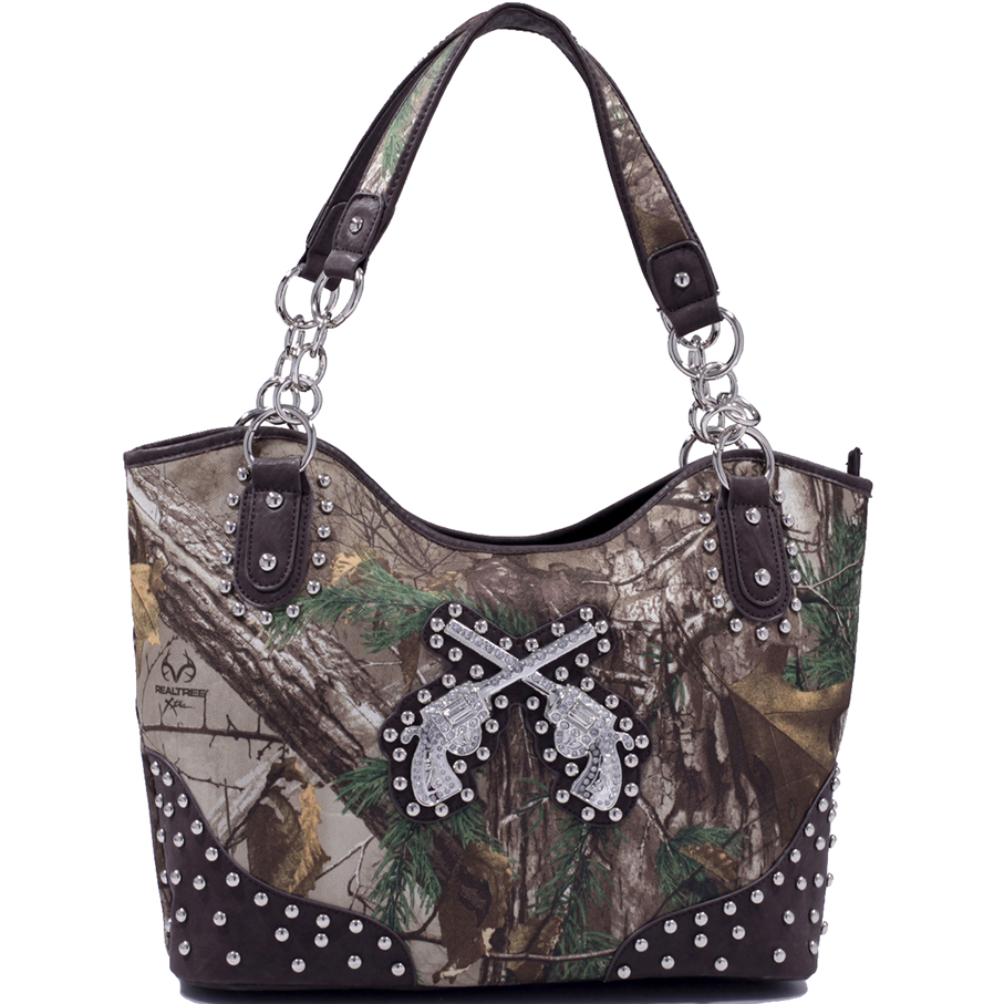 Realtree® Embroidered Shooter Concealed Carry Shoulder Bag