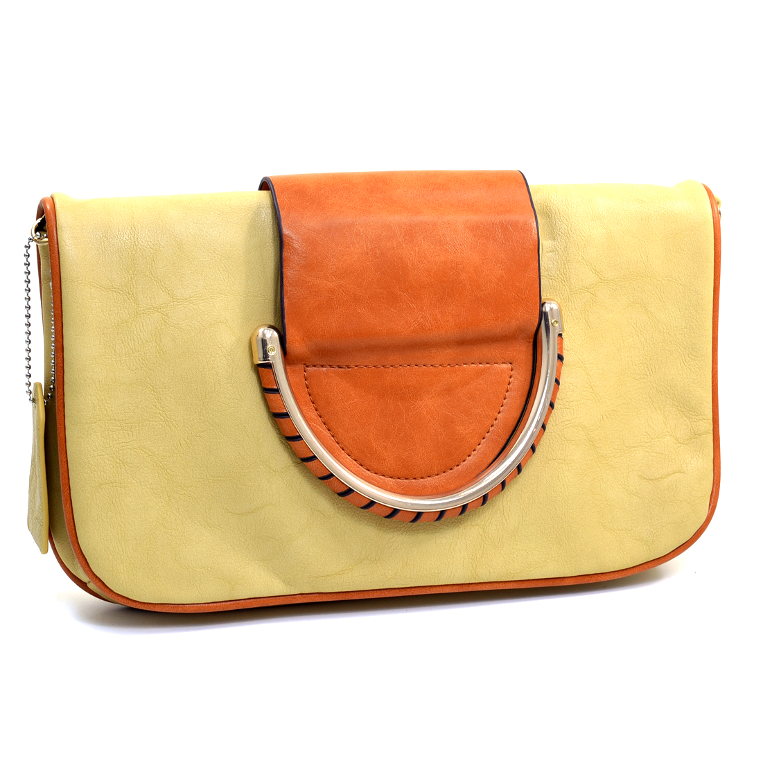 Dasein® Two Tone Foldover Clutch