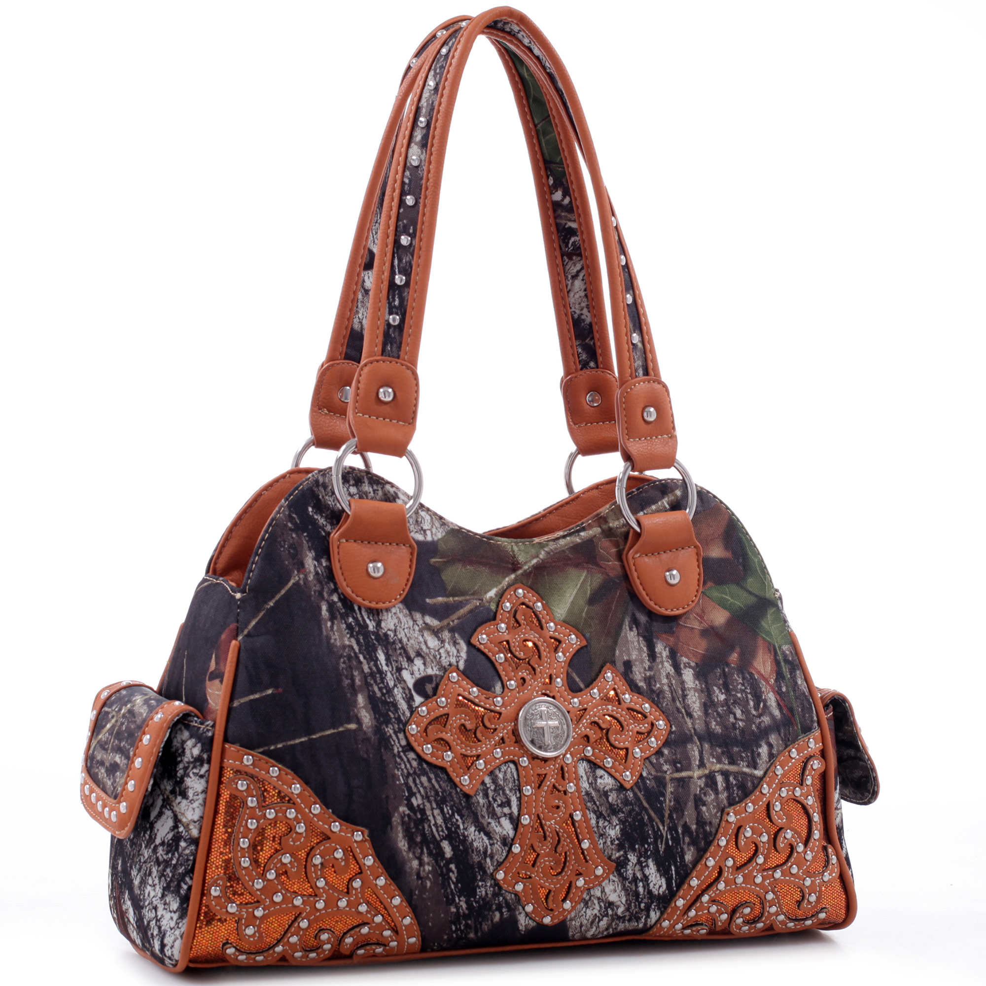 Mossy Oak® Western Filigree Embroidered Cross Shoulder Bag