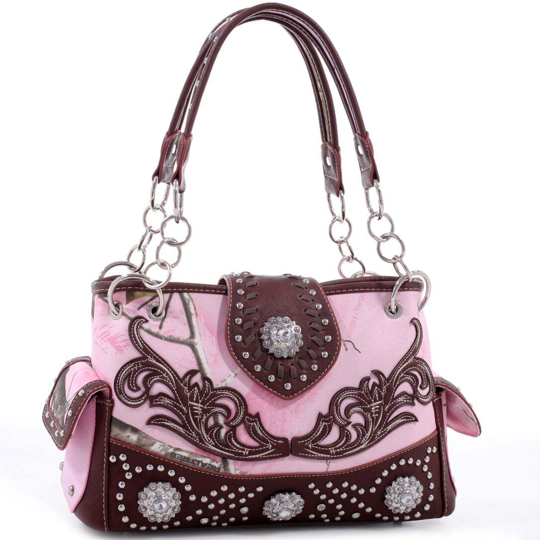 Realtree® Floral Embroidered Western Studded Shoulder Bag