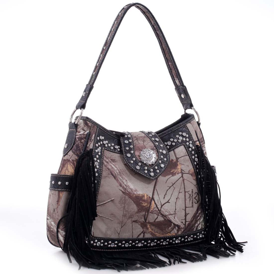 Rhinestone Studded Western Belt Hobo Bag