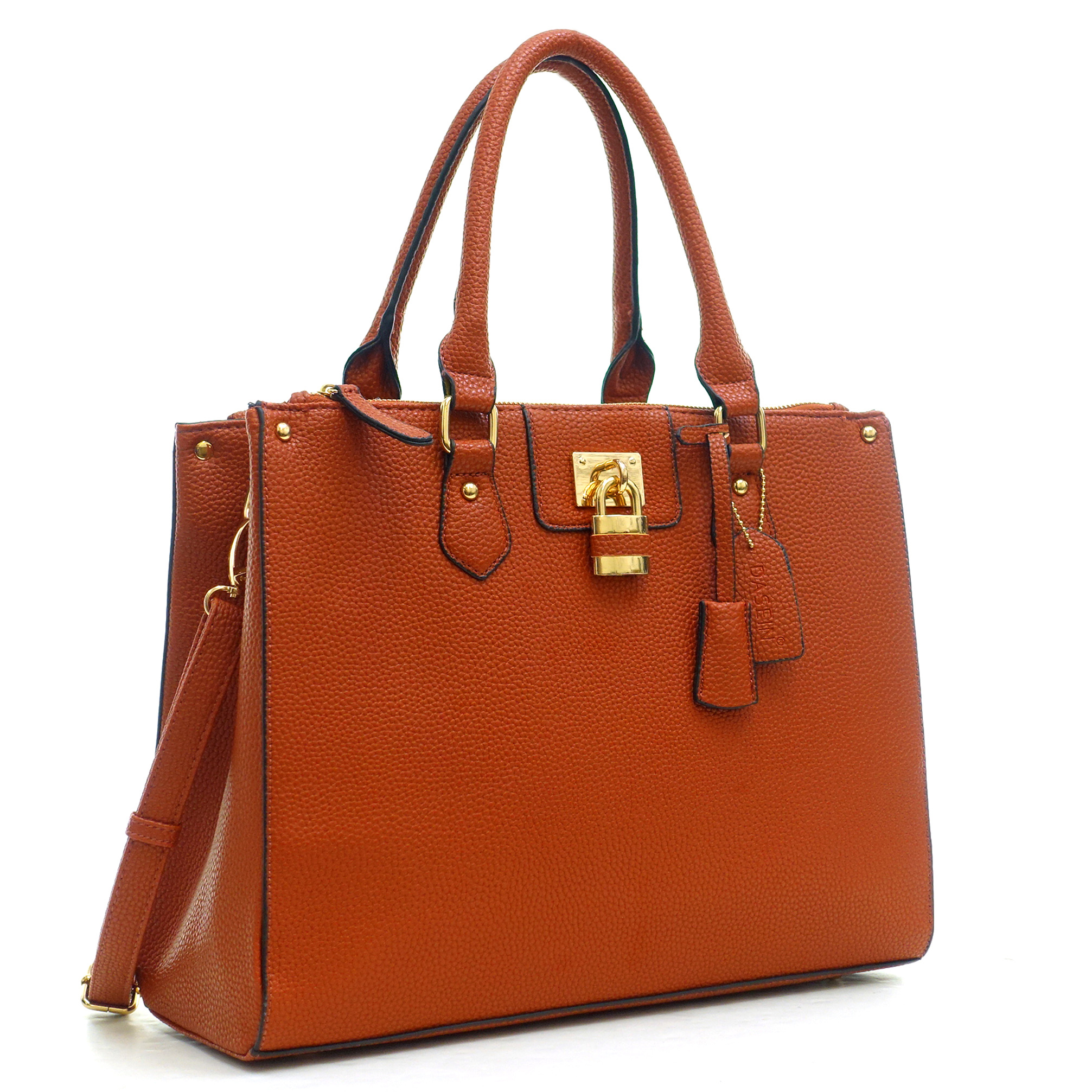 Dasein® Buffalo Faux Leather Double Zip Tote