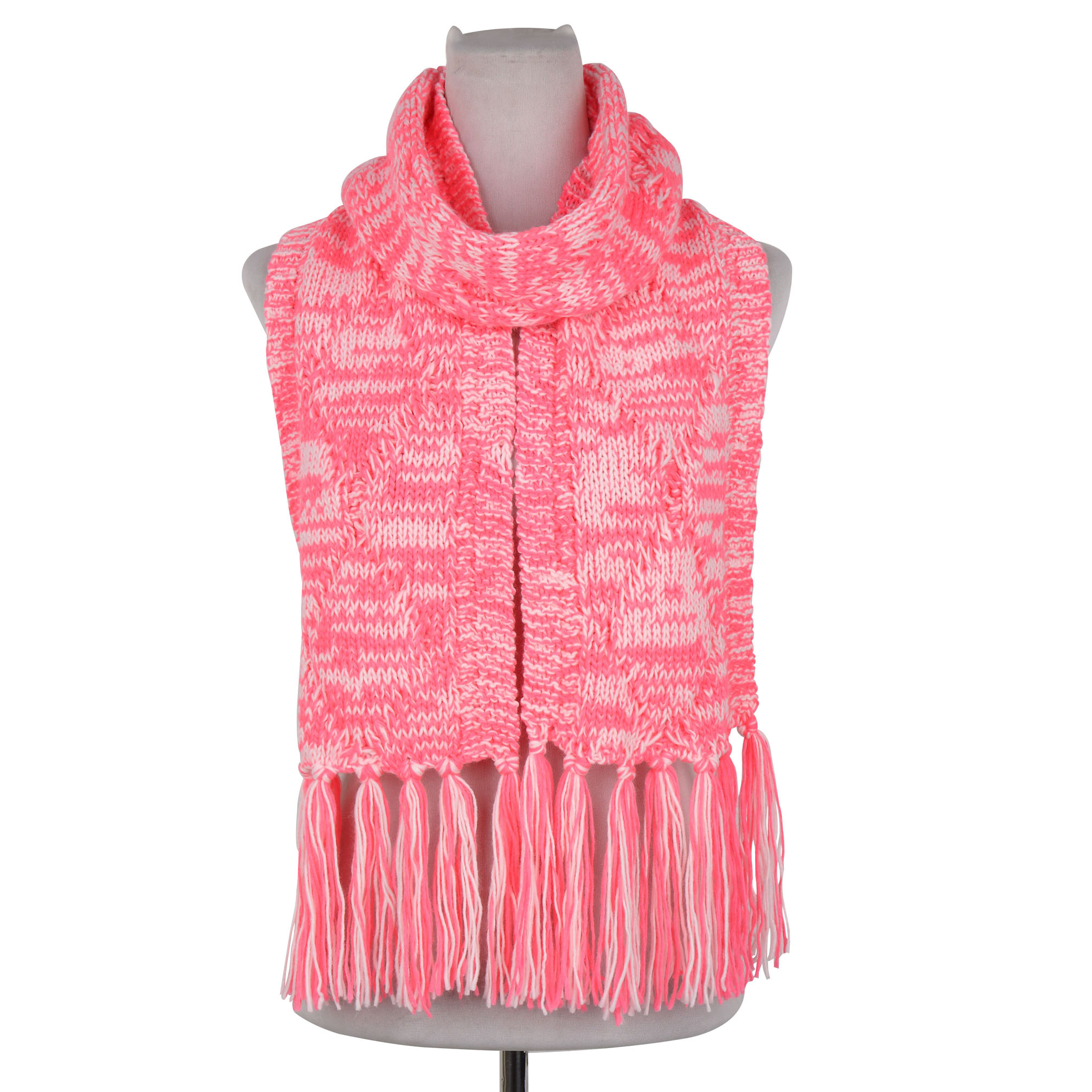 Bright Neon Cable Knit Scarf