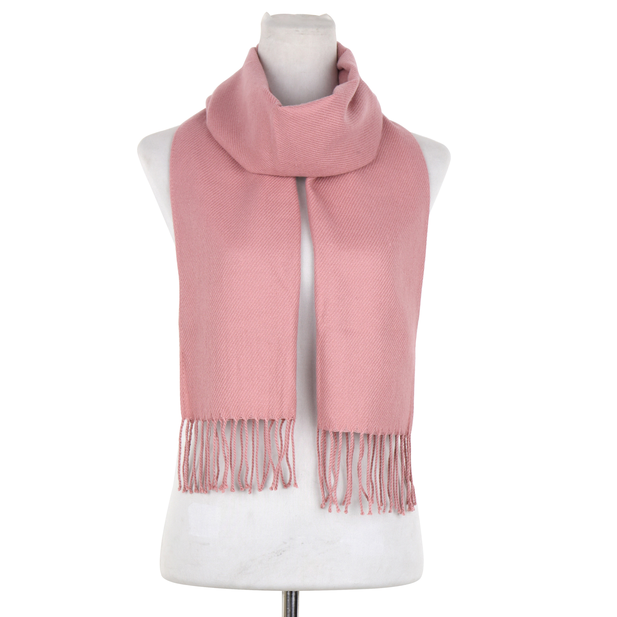 Solid Color Classic Style Woven Scarf