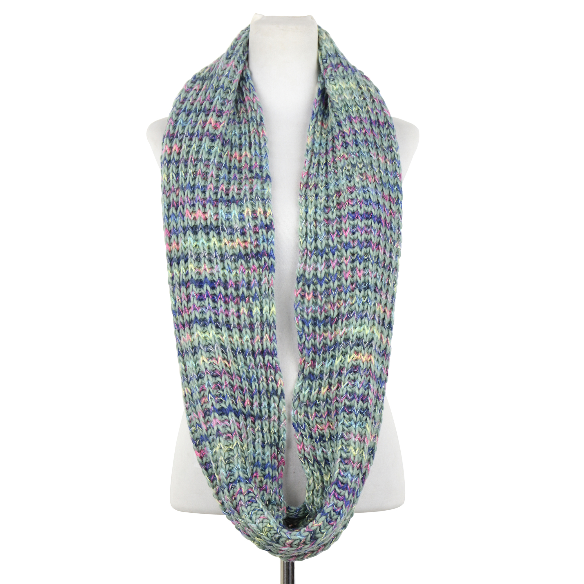Chunky Multi-Color Infinity Scarf