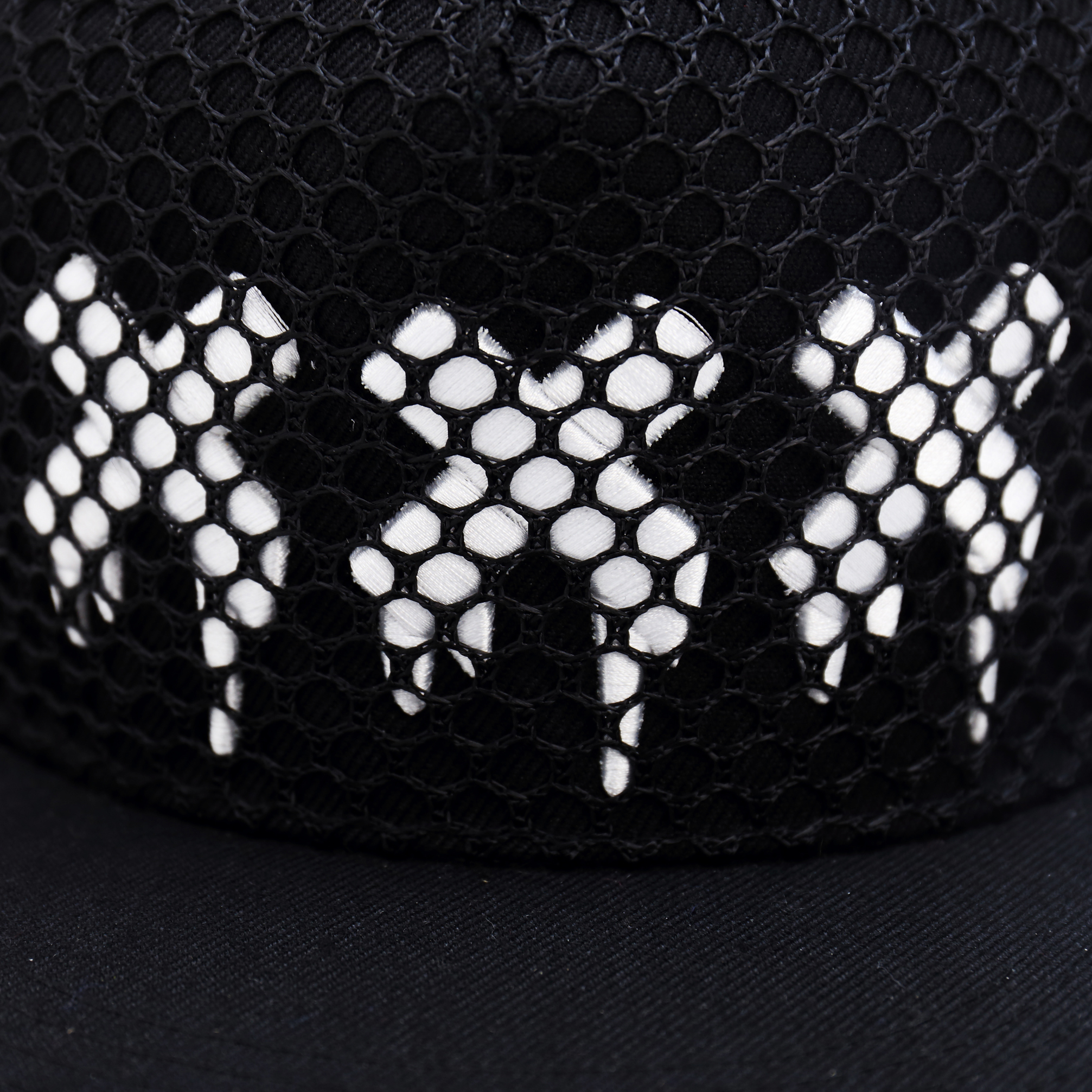 Mesh xxx  Snapback Cap with 3D Embroidery