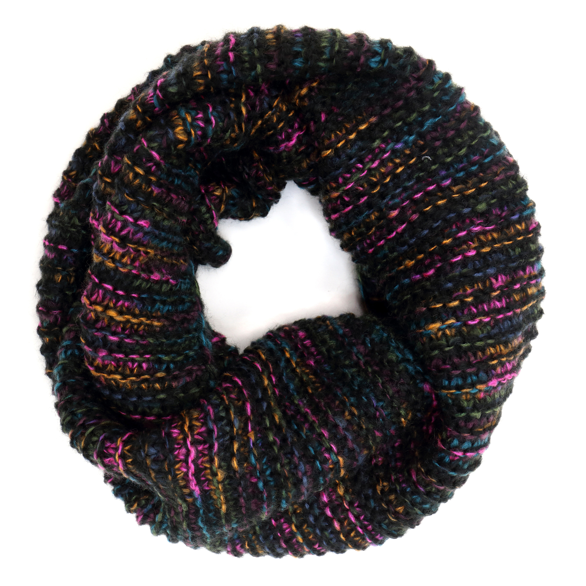 Dip-Dyed Beanie with Infinity Scarf