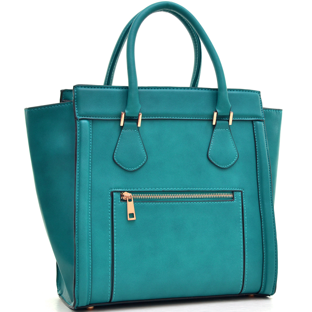 Dasein® Medium Faux Leather Winged Satchel