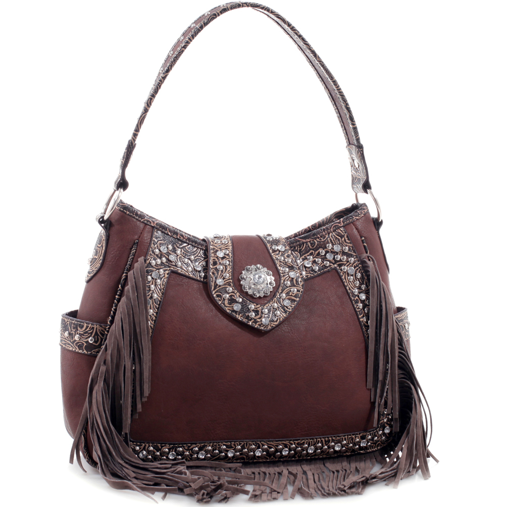 Realtree® Rhinestone Studded Western Belt Hobo Bag