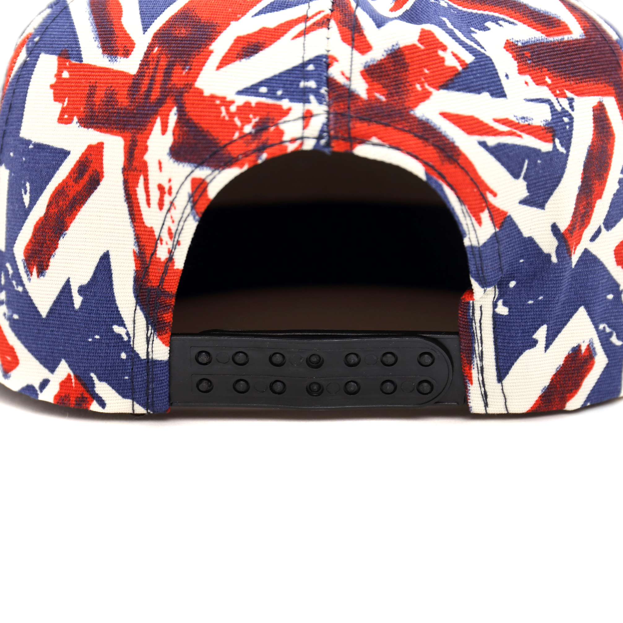 England Snapback Hat with Union Jack Design Print
