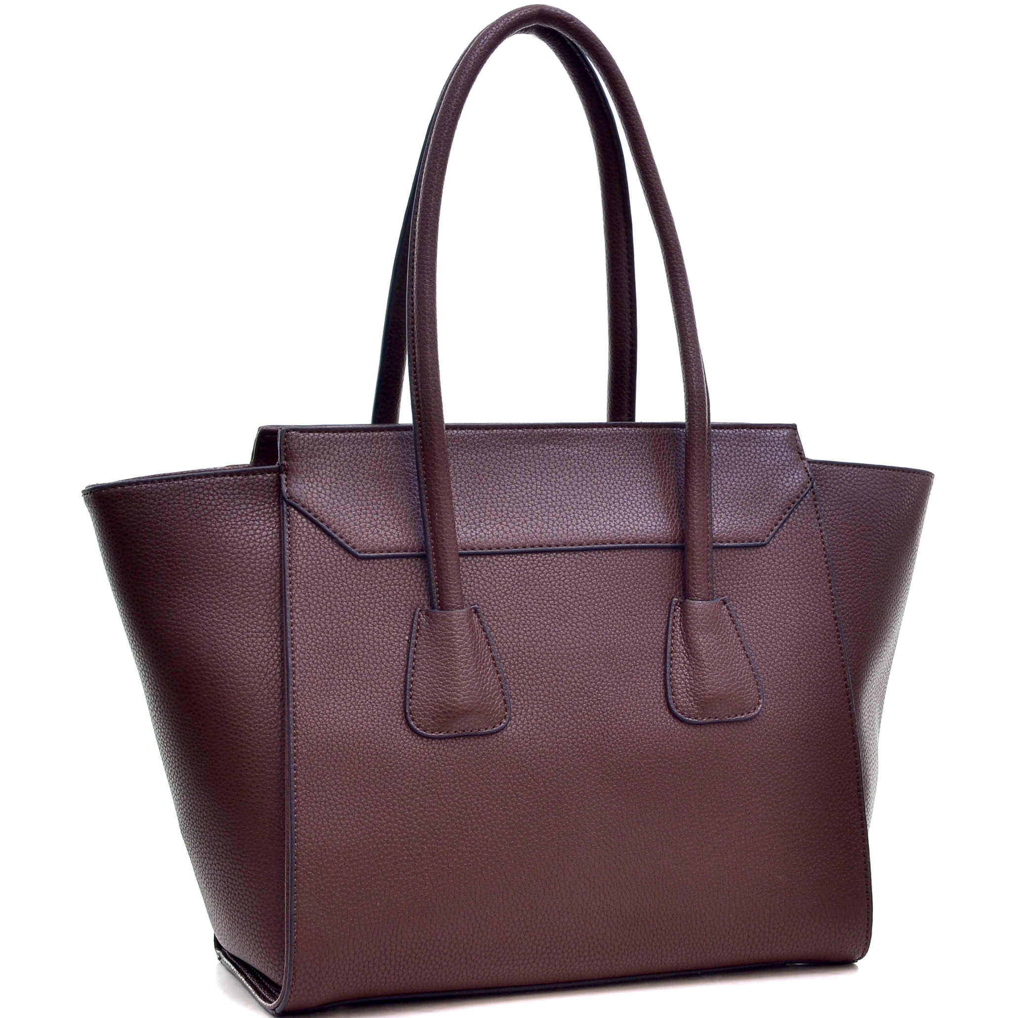 Dasein® Faux Leather Winged Satchel