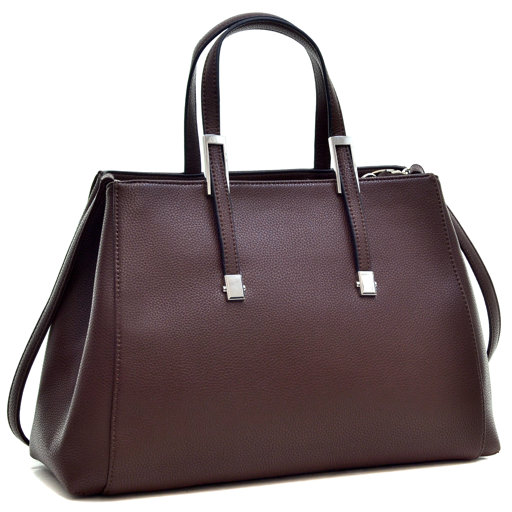 Dasein® Faux Buffalo Classic Briefcase with Removable Shoulder Strap