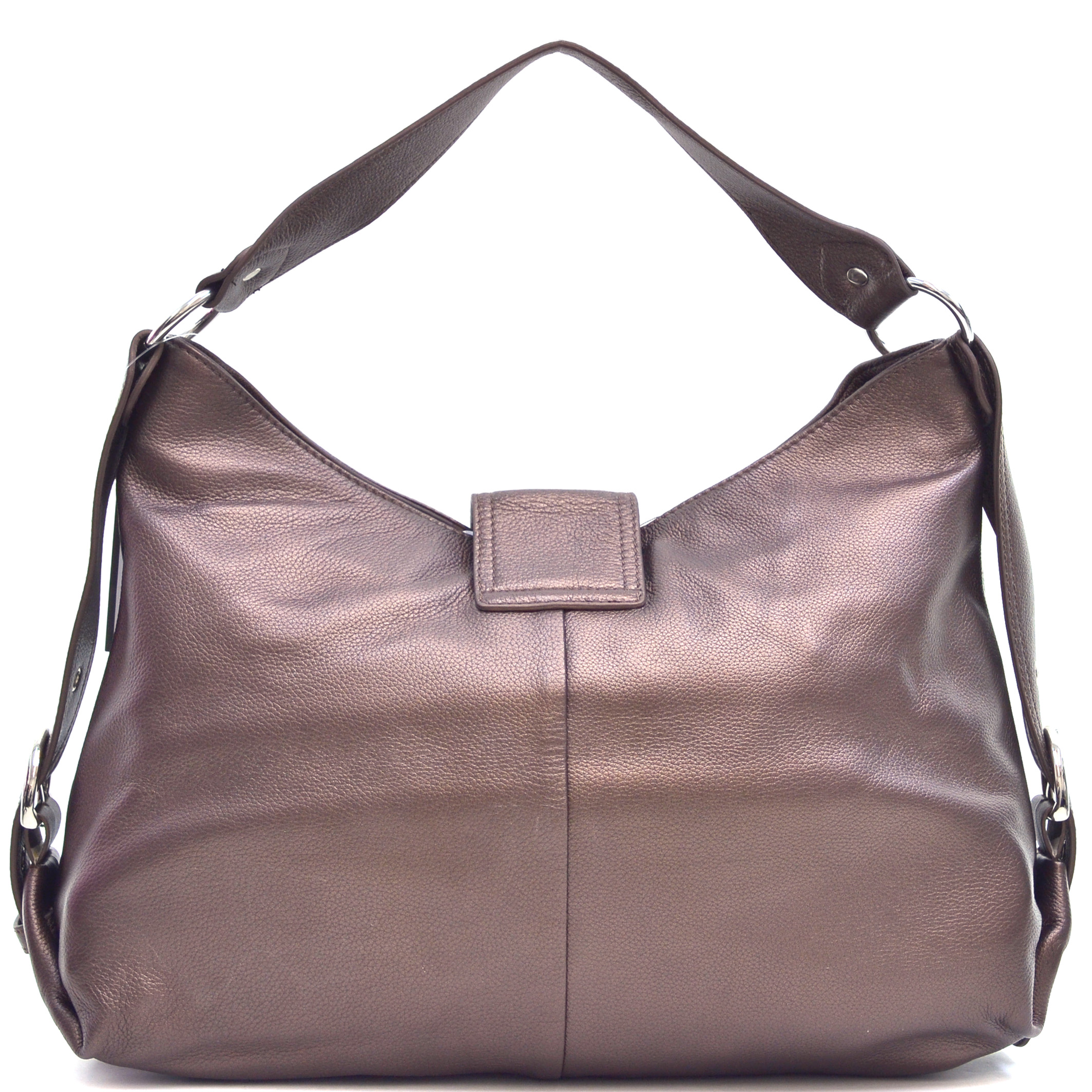 Vittorio Genuine Leather Buckled Hobo Bag