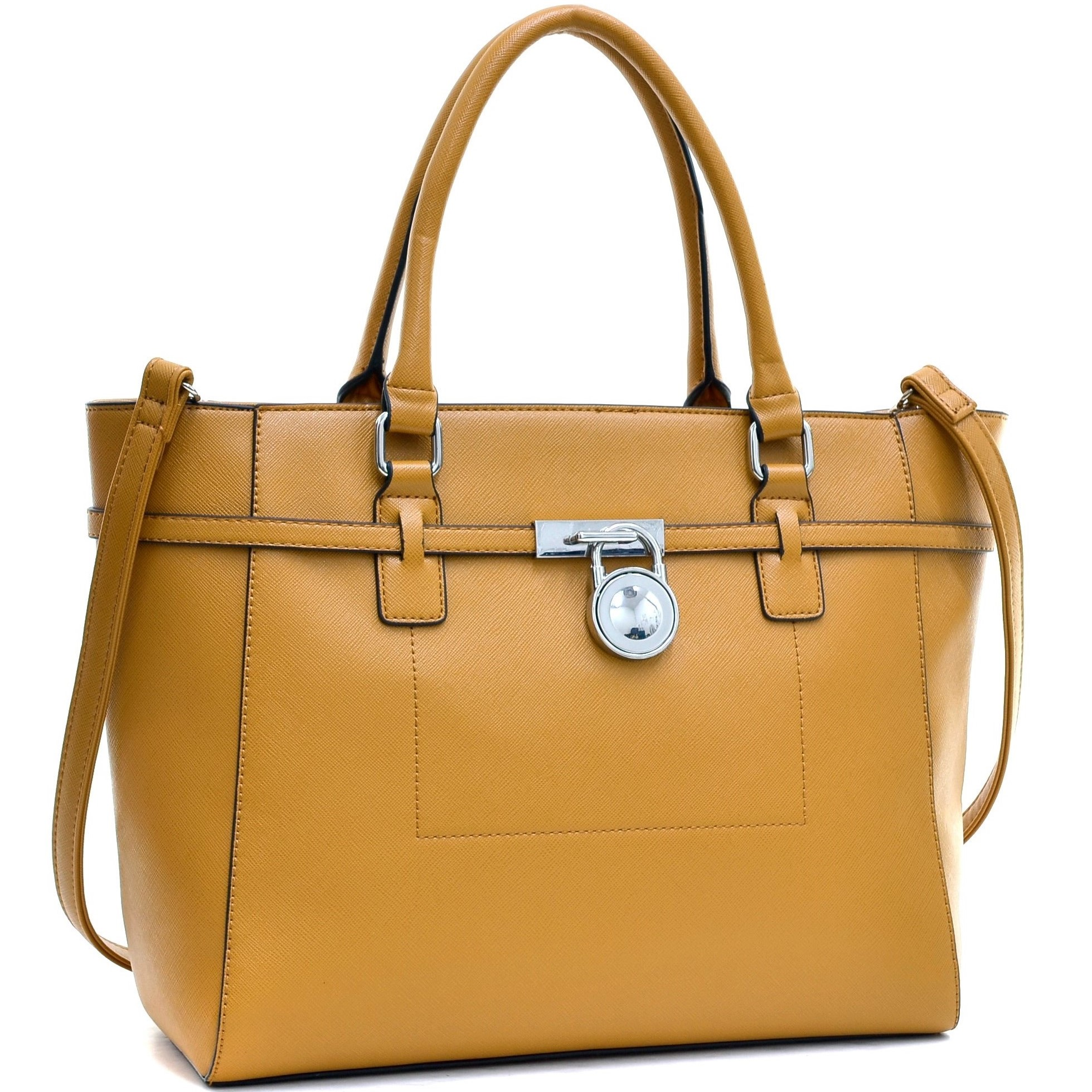 Dasein® Padlock Belted Medium Tote Bag