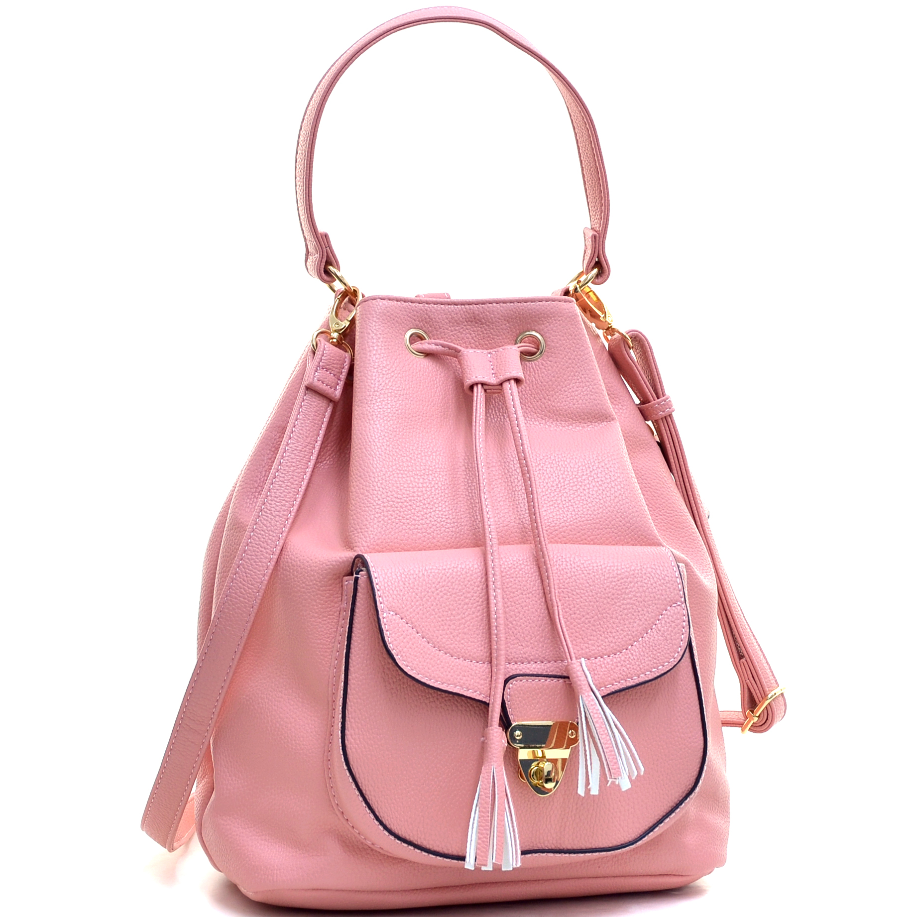 Dasein Front Pocket Convertible Drawstring Bag