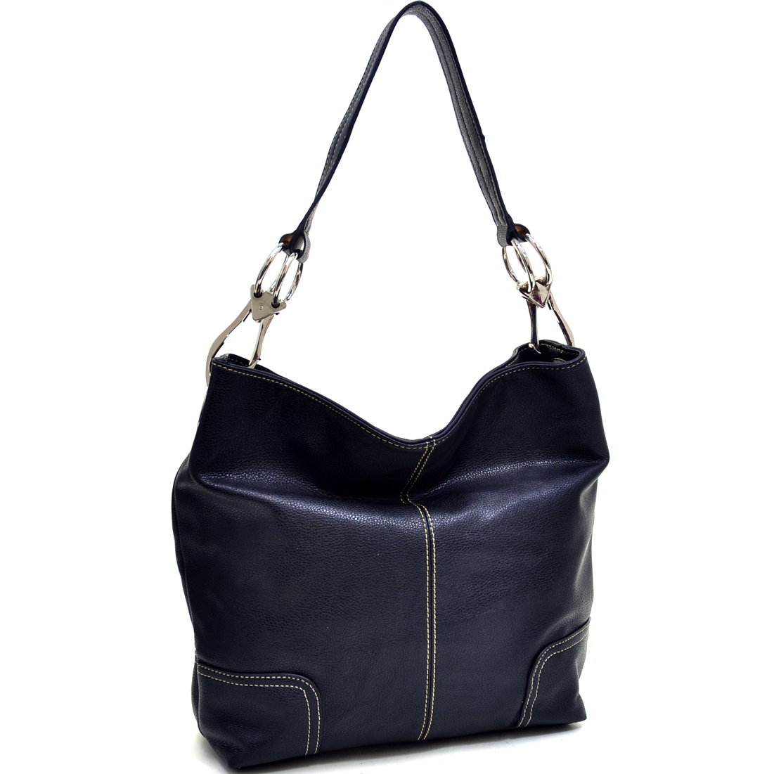 Classic Corner Patched Hobo Bag