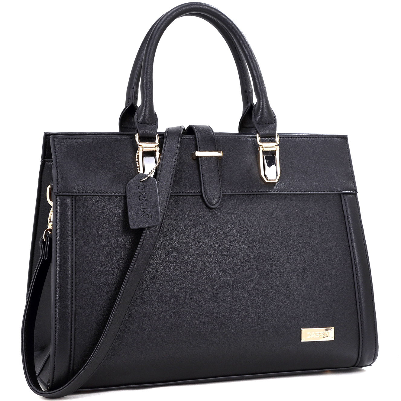 Faux Leather Work Satchel